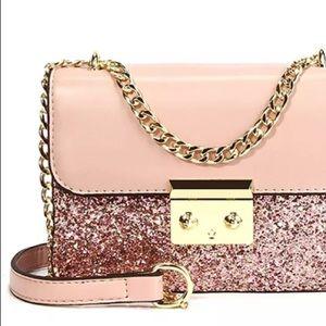 Beautiful pink glittered handbag